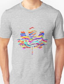 Abstract Maple Leaf Silhouette with Pattern Unisex T-Shirt