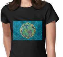 New Years Inspiration Blue - Peacock Art Womens Fitted T-Shirt