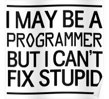 I may be a programmer but I can't fix stupid Poster