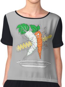Makanko-salad!!! Chiffon Top