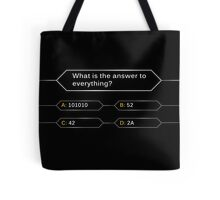 Who wants to be a hitchhiker? Tote Bag
