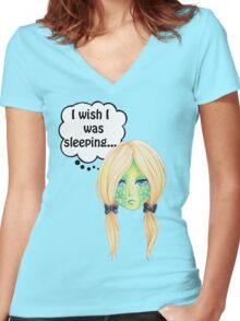 Sleepy Turtle Women's Fitted V-Neck T-Shirt
