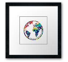 Go With All Your Heart - World Framed Print
