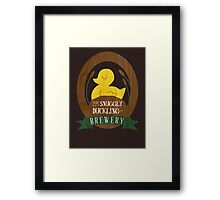 The Snuggly Duckling Brewery Framed Print