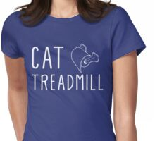 Cat Treadmill Womens Fitted T-Shirt