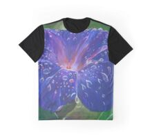 Deep Purple Morning Glory With Morning Dew Graphic T-Shirt
