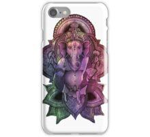Ganesha Color - white iPhone Case/Skin