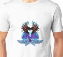 Blue Crocosmia Roses Unisex T-Shirt