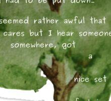 Here Lies A Tree - Eulogy for an old oak Sticker