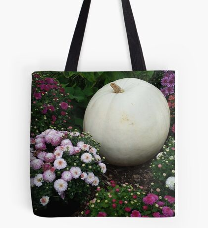 Pumpkin in the Flower Garden Tote Bag