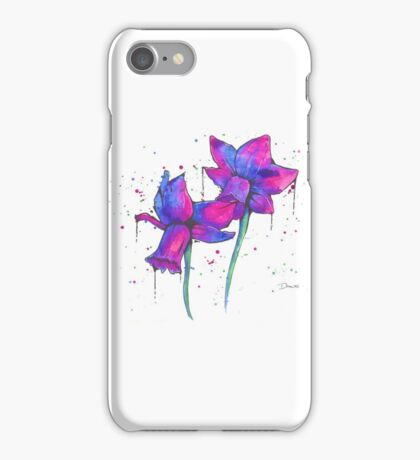Ink and Pen Flowers iPhone Case/Skin