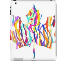 Abstract Maple Leaf Silhouette with Pattern iPad Case/Skin