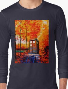 tardis in the woods Long Sleeve T-Shirt