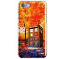 tardis in the woods iPhone Case/Skin