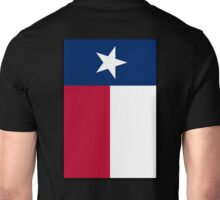 TEXAS, Lone Star, Texas Flag, PORTRAIT, Flag of the State of Texas, USA, America, American, on BLACK Unisex T-Shirt