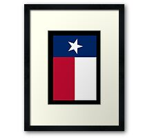 TEXAS, Lone Star, Texas Flag, PORTRAIT, Flag of the State of Texas, USA, America, American, on BLACK Framed Print
