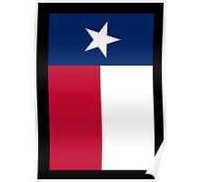 TEXAS, Lone Star, Texas Flag, PORTRAIT, Flag of the State of Texas, USA, America, American, on BLACK Poster