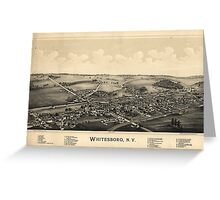 BIrd's Eye View of Whitesboro, New York (1891) Greeting Card