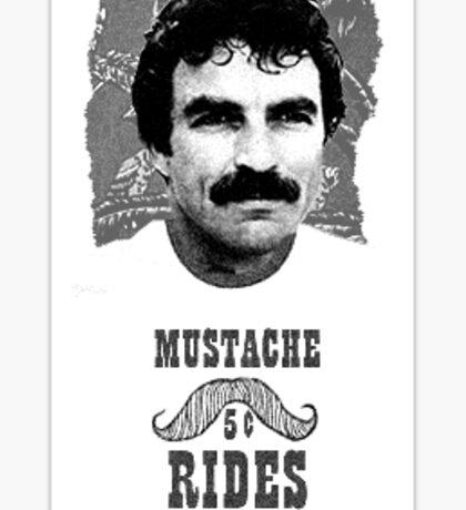 Mustache Rides - Tom Selleck Sticker