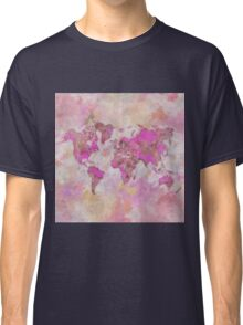 World Map Violet Classic T-Shirt