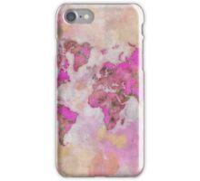 World Map Violet iPhone Case/Skin