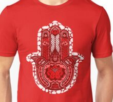 Red Lotus Hamsa Unisex T-Shirt