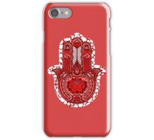 Red Lotus Hamsa iPhone Case/Skin