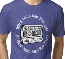 Marly Marl Rap Attack Old School Hip Hop tape [wht] Tri-blend T-Shirt
