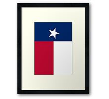 TEXAS, Lone Star, Texas Flag, FULL COVER, Flag of the State of Texas, USA, America, American Framed Print