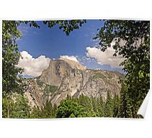 Half Dome, Yosemite Valley - framed by trees Poster