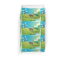 Windmill Country Landscape Duvet Cover