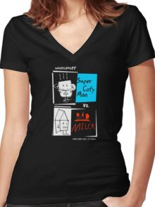SUPER COFY MAN Shirts & More! Women's Fitted V-Neck T-Shirt