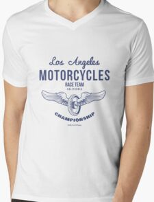 Vintage Wheel with Wings Illustration for T-shirts prints Mens V-Neck T-Shirt