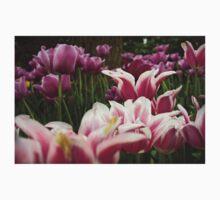 Purple Tulips One Piece - Long Sleeve