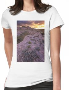 Buttes Sunset #2 Womens Fitted T-Shirt