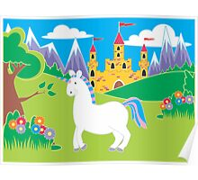 Fairy-tale Cartoon Unicorn Poster