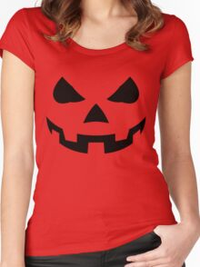 Pumpkin Halloween Women's Fitted Scoop T-Shirt