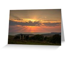 Beachy Head and Downland Sunset Greeting Card
