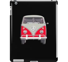 Volkswagen, Van, RED, Camper, Split screen, 1966 Volkswagen, Kombi (North America) iPad Case/Skin