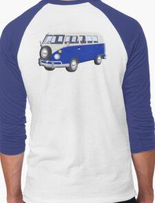 Volkswagen Van, VW Bus, Navy Blue, Camper, Split screen, 1966 Volkswagen, Kombi (North America) Men's Baseball ¾ T-Shirt