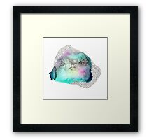 Micros Green Abstract Framed Print