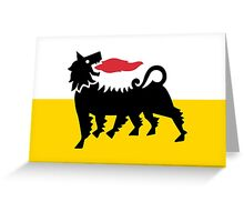 Flag of Eni Greeting Card