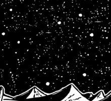 Retro Sci-Fi Art, Rocket on the Moon Sticker