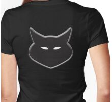 CAT, Cat face, Cat Lover, Silhouette, Moggy, Black cat, Pet, Feline, Puss, Cat Woman, Pussy Womens Fitted T-Shirt