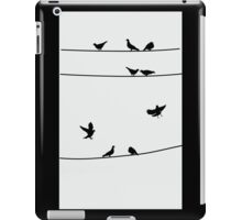 Pigeons on Wires, Silhouette Art iPad Case/Skin