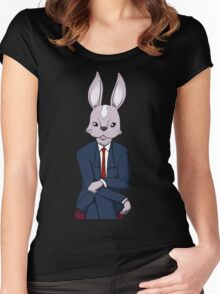 Office Bunny Women's Fitted Scoop T-Shirt