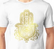 Royal Golden Hamsa Hand Unisex T-Shirt