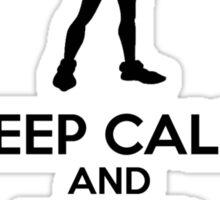 Keep Calm And Never Grow Up Sticker
