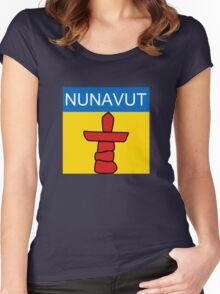 Nunavut Logo (Canada) Women's Fitted Scoop T-Shirt