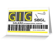 Destination Rio Airport Greeting Card